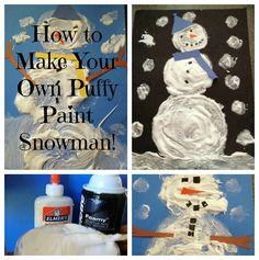 Preschool theme craft, fun!  Uses shaving cream and glue to make paint.