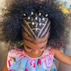 Can You Ignore These 75 Black Kids Braided Hairstyles? Black Kids Braids Hairstyles, Black Little Girl Hairstyles, Girls Natural Hairstyles, Braids For Black Hair, Natural Hair Styles, Kid Hairstyles, Hairstyle Ideas, Braids On Natural Hair, Black Hairstyle