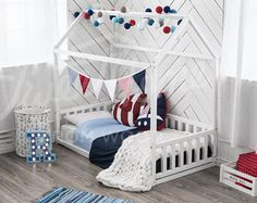 Children bed, toddler bed, house bed, kids teepee, wood house, baby bed, Montessori toys tent bed, children bedroom bed house, nursery bed