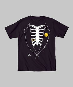 Loving this Black Skeleton Tuxedo Tee - Toddler & Boys on #zulily! #zulilyfinds