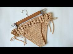 Hola amigas, en este video te muestro como tejer el complemento (calzon) para nuestro traje de baño, tejí una talla mediana con 100grs de Hilaza sinfonía col... Motif Bikini Crochet, Beach Crochet, Crochet Bikini Bottoms, Cotton Crochet, Crochet Yarn, Crochet Bathing Suits, Crochet Videos, Crochet Clothes, Crochet Patterns