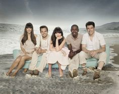 Still of Zooey Deschanel, Max Greenfield, Hannah Simone, Lamorne Morris and Jake M. Johnson in New Girl