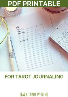 The best way to learn the tarot - and to make it an everyday part of your life - is to begin a daily practice of drawing one tarot card and journaling about it. This is called the Daily Draw.  This tarot journal page is designed to help you record your Daily Draw. There is space to record your tarot card of the day, the date, the tarot deck you are using, your location, the question you asked the cards, and plenty of space for notes about your reading.  The Daily Draw card itself is…