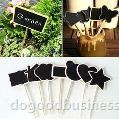 Make your own Shape Mini Blackboard Stick and use Chalk Markers...  Get Now on SALE a 10 color Chalk Markers set including 2 whites + a GIFT of 32 Label Stickers.  http://www.amazon.com/dp/B0187DKT6Q   For additional 10% discount coupon e-mail us: dosensepro@gmail.com