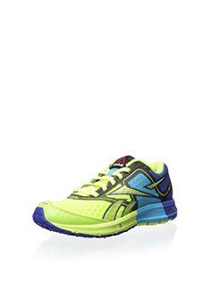 ff06c8e84bbe Womens Reebok ONE Cushion Shoes in Neon YellowBlue MoveBlue BlinkGreen Size  6     Want