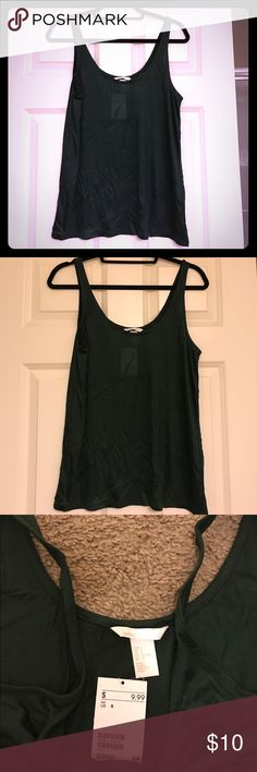 H&M brand new tank top Brand new dark green tank top. Plain basic tank that will add color to your wardrobe! H&M Tops Tank Tops