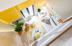 yellow, contemporary, Bucharest apartment, Romanian architects
