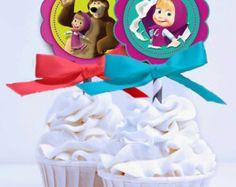 Masha y el oso e orso cumpleaños Party Decor por RoomOfDesign