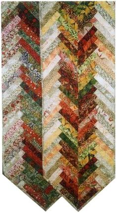 """Holiday Herringbone table runner pattern, 13 x 60"""", by Aardvark Quilts as seen at Shibori Dragon"""