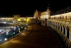 Plaza de España by night - Seville (High view)