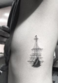 Ghost Ship Tattoo Design by Doctor Woo