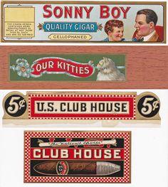 SONNY BOY AND OTHER ASST. OLD CIGAR BOX SIDE LABELS. VIA FLICKER