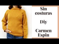 Jersey sin Costuras Diy ( agujas circulares) - YouTube Costura Diy, Men Sweater, Turtle Neck, Knitting, Sweaters, Jackets, Fashion, Knit Baby Sweaters, Baby Dress Patterns