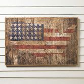 Found it at Wayfair - American Flag Wooden Print