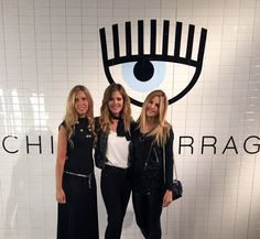 Giorgia Marin, Elisabetta Pellini and Serena Iaricci at the presentation of the new Chiara Ferragni shoes collection during the Milan Fashion Week, on September 27, 2015 in Milan, Italy.