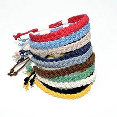 Woven Sailor Anklet Nautical Colors