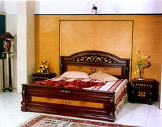 Indian Bedset Double Bed Designs, Luxury Bedroom Design, Bedroom Designs,  Unique Furniture,