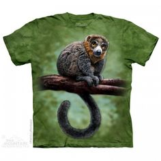 Tricou The Mountain - Cadou traznit Lemur Totem Zoo Animals, Animals For Kids, Lemur, Cotton Tee, Cool T Shirts, Screen Printing, Classic T Shirts, Dinosaur Stuffed Animal, Graphic Tees
