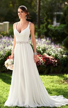 Chiffon Wedding Dresses | Wedding Dresses| Stella York - @kamilak8 that back tho ;)