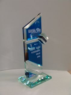 Award Trophy design glass