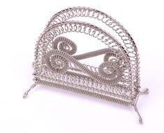 Serviette holder - unique wire and art