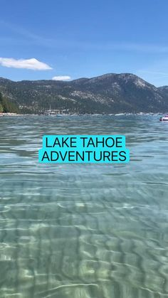 Best All Inclusive Resorts, Incline Village, Travel Items, Summer Photography, Beautiful Places To Travel, Wakeboarding, Lake Tahoe, Summer Activities, Kayaking