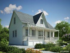 """Laden Sie das lizenzfreie Foto """"Holzhaus Kanada weiss"""" von KB3 zum günstigen Preis auf Fotolia.com herunter. Stöbern Sie in unserer Bilddatenbank und finden Sie schnell das perfekte Stockfoto für Ihr Marketing-Projekt!"""