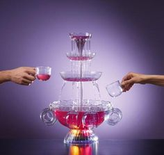 Nostalgia Electrics 3-Tier Lighted Punch Party Fountain with Cups Free Shipping. #NostalgiaElectrics