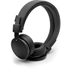 Urbanears Black Plattan ADV Wireless Headphones (£35) ❤ liked on Polyvore featuring black