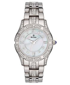 Bulova Watch, Women's Silver-Tone Bracelet Watches - Jewelry & Watches - Macy's - for work?