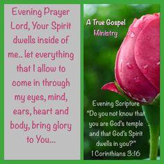 Scripture & Prayer #atruegospelministry