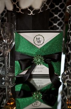 Modern & Glamorous Emerald Green Wedding Inspiration - Lover.ly