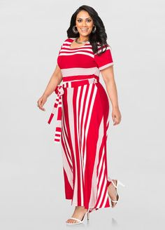 Striped T-Shirt Maxi Dress