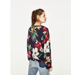 ZARA Shirts & Blouses ZARA floral print blouse 4