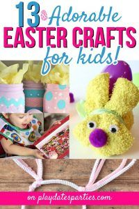 Featured at The Wednesday Link Party 13 Adorable Easter Crafts - From Playdates to Parties