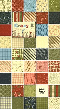 "MODA Christmas fabric I am using for a Christmas quilt!  This ""layer cake"" is called ""Crazy 8"""