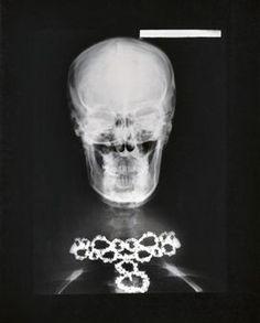 Helmut Newton, Van Cleef + Arpels Diamond Necklace X-Ray, Paris 1979 #christiesjewels #vancleef