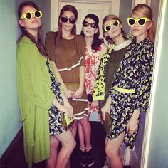 The gorgeous girls at @karen_walker with hair by the @stephen_marr team using O&M! #themarrfactory #hair #fashion #styling #regram @keahii