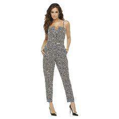 Kardashian Kollection Women's Convertible Jumpsuit - Leopard Print