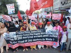 Out on the streets : India Bangladesh stand in solidarity with families of Baldia factory fire...