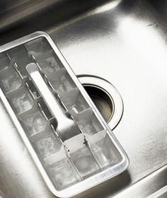 Deodorize a garbage disposal. Make vinegar ice cubes and feed them down the disposal. After grinding, run cold water through the drain