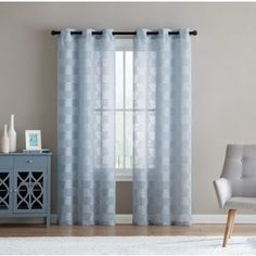 For Vcny Home Jolie Emobroidered Semi Sheer Curtain Panel Pair Free Shipping On