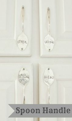 Upcycle spoons into handles - bright paint, then hot glue for a less permanent option?