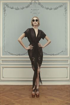 Ulyana Sergeenko-haute-couture-SS2013. Love the glasses!!!