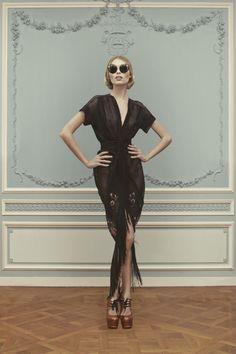 Ulyana Sergeenko-haute-couture-SS2013. Love the glasses!!!