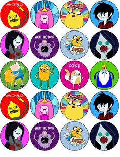 ADVENTURE TIME EDIBLE WAFER PAPER OR ICING SHEET TOPPERS CUPCAKE CAKE MUFFIN | eBay