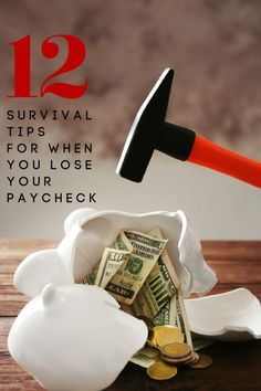 So many people are losing their income right now! Are you one of them? If so, use these 12 survival tips for when you lose your paycheck to survive! #pandemic #covid #covid19 #financialpreparation #emergencypreparation #frugal #frugalliving #frugallivingtips #budget #budgeting #personalbudget #financial #finance #personalfinance #shtf #teotwawki Frugal Living Tips, Frugal Tips, Money Tips, Money Saving Tips, Financial Tips, Financial Planning, Wealth Management, Money Management, Emergency Preparation