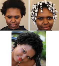 Video tutorial of a perm rod set on natural 4b 4c hair.