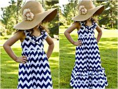 Girls Gorgeous Chevron Maxi Dress - Chevron Print Dresses - Toddlers Dress - Little Girls Dress by AdalynsBoutique on Etsy https://www.etsy.com/listing/185926687/girls-gorgeous-chevron-maxi-dress