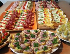 Sandwiches, snacks and canapés from my kitchen . Cold Appetizers, Appetizer Recipes, Great Recipes, Favorite Recipes, Austrian Recipes, European Cuisine, Czech Recipes, Party Finger Foods, Food Inspiration